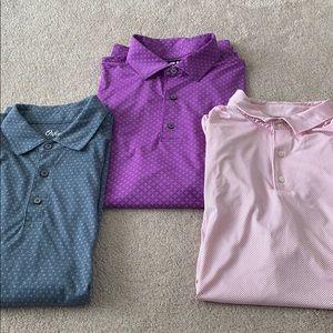 Men's Golf Shirts FJ Oxford Johnnie brands Sz L